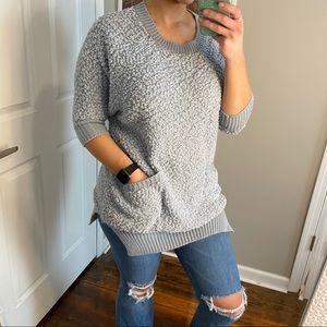 Umgee oversized popcorn sweater tunic S